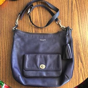 Coach Leather Crossbody with tassels